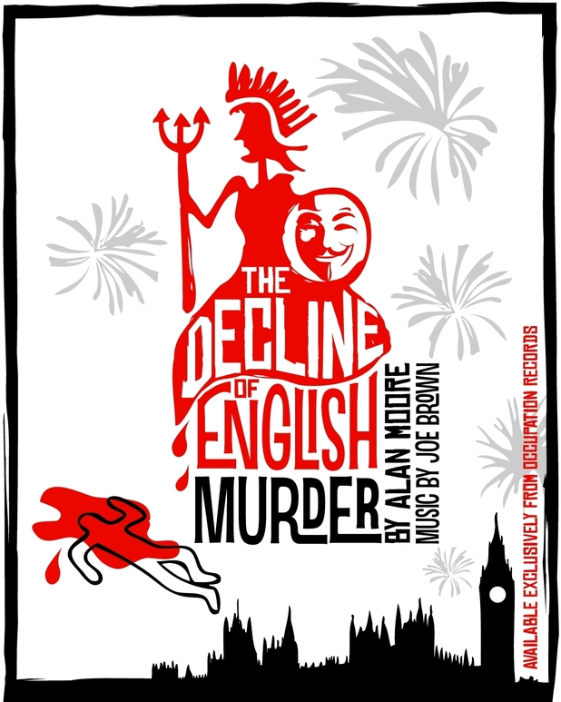 Alan Moore single sleeve 'The Decline of English Murder'