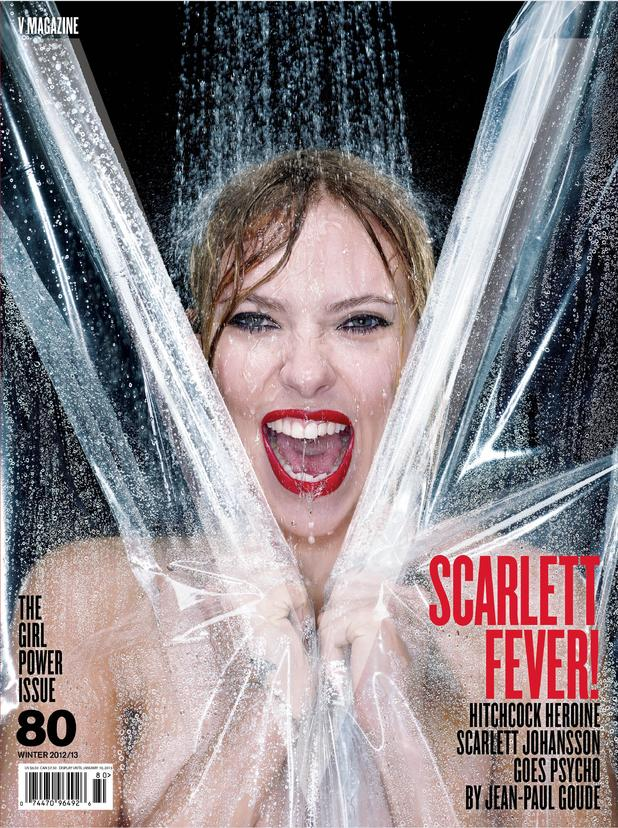 Scarlett Johansson does Janet Leigh in the Psycho shower scene for