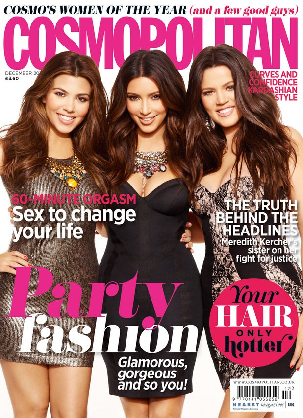 The Kardashians on the cover of Cosmopolitan December 2012