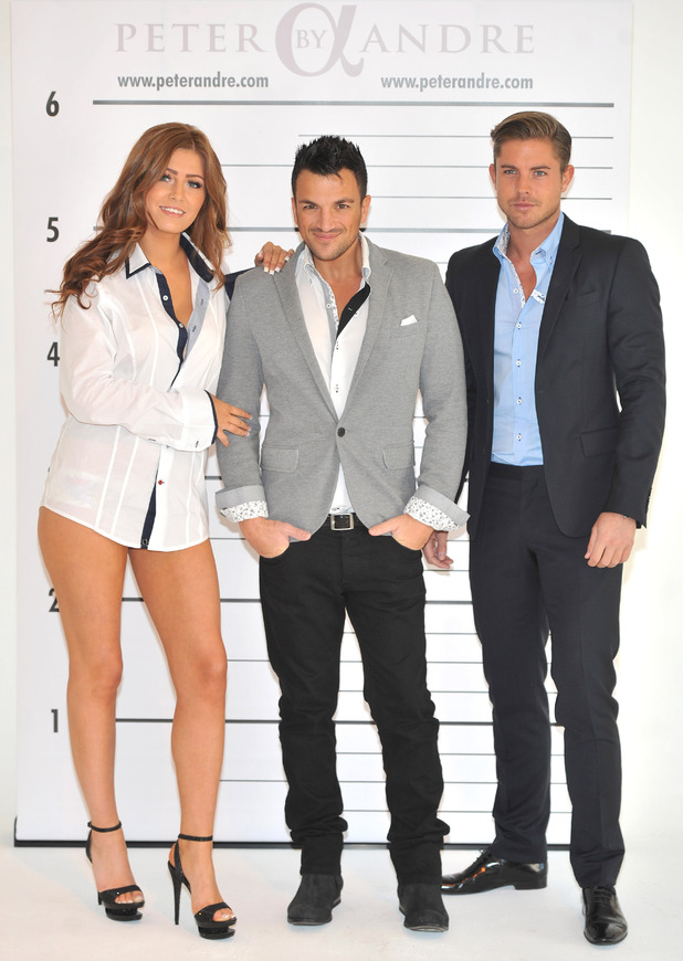 Peter Andre and David Petersis launching his new menswear collection 'Peter Andre's alpha Collection' at the Worx StudiosLondon, England