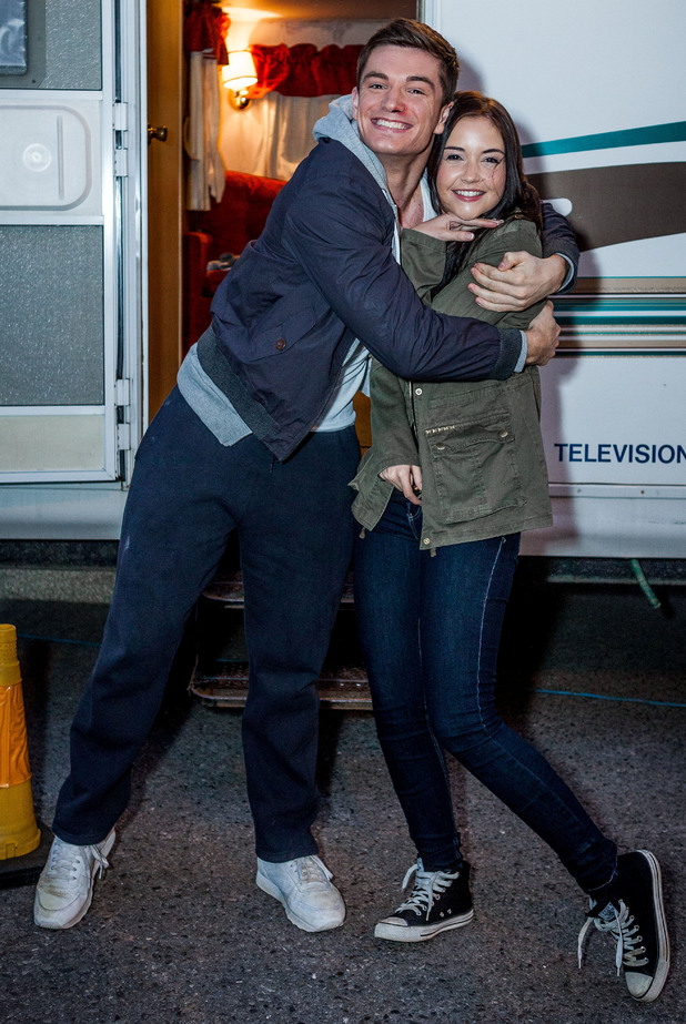 EastEnders Episode 4536: David and Jacqueline between scenes.