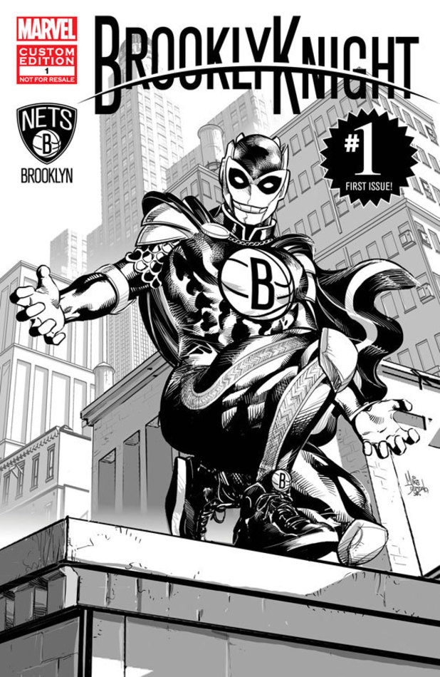Marvel designs mascot for Brooklyn Nets
