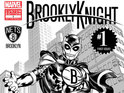 The comic book firm designs a superhero for the New York basketball team.