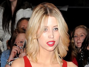 Peaches Geldof arriving for the premiere of The Twilight Saga: Breaking Dawn Part 2 at the Empire and Odeon Leicester Square, London
