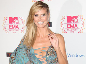 Show host Heidi Klum The MTV EMA's 2012 held at Festhalle - arrivals Frankfurt, Germany