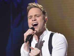 The X Factor: Olly Murs performs.