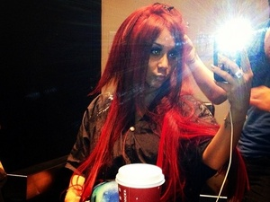 Jersey Shore star Nicole 'Snooki' Polizzi shows off her new red hair