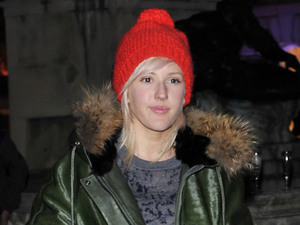 Ellie Goulding, at the launch party for the Somerset House Ice Rink at Somerset House. London, England