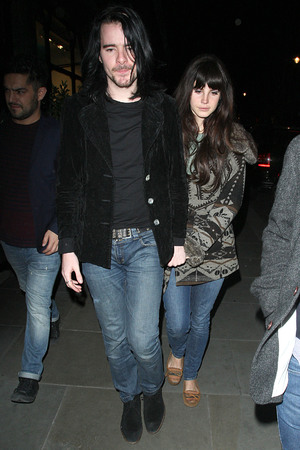 Lana Del Rey with boyfriend Barrie James O'Neil at Scotts restaurant London, England