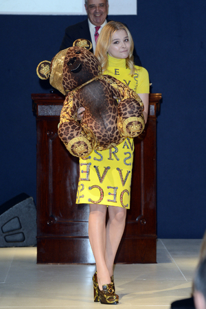 Chloe Moretz, Designer Pudsey 2012 Collection auction in association with BBC's Children in Need at Christie's Auction House