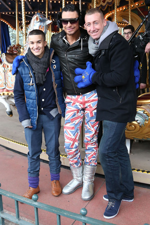 Jahmene Douglas, Rylan Clark and Christopher Maloney The X Factor finalists enjoy a day out at Disneyland Paris Paris, France