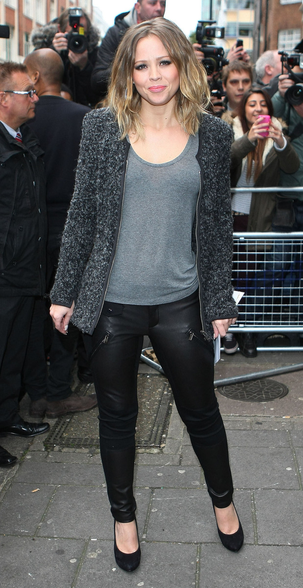 Kimberley Walsh of Girls Aloud at the BBC Radio 1 Studios