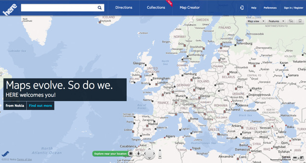 'Nokia Here Maps' screenshot