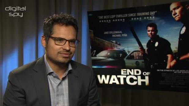 Michael Peña talks to Digital Spy about how he and co-star Jake Gyllenhaal prepared for their cop drama 'End of Watch'.