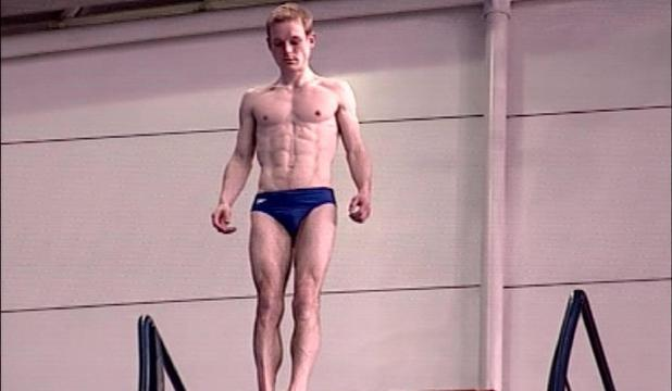Adam Rickitt on 'The Games: Live'. Adam performs a dive. Channel 4 England - 21.03.06