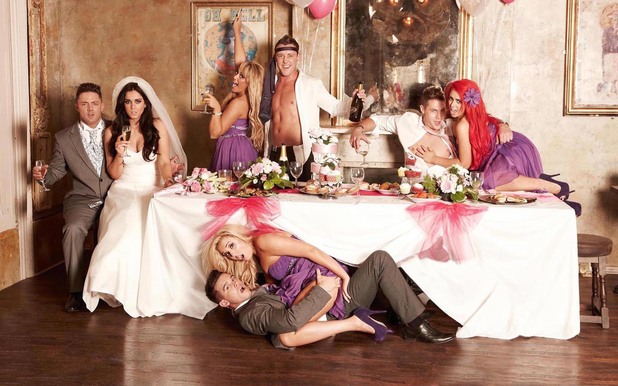 Geordie Shore cast in wedding-themed shoot for Now.