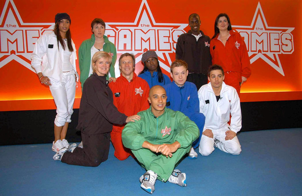 Javine Hylton, Julia Goldsworthy M.P., Marcel Somerville (MC Plat'num), Amanda Lamb, (Middle, Left to Right) Bernie Nolan, Peter Duncan, Michelle Gayle, Adam Rickett, Jason 'JK' King and (front) Jade Jones, during a photocall for the new series of The Games from Channel 4, at the Don Valley Stadium, Sheffield, Friday 17th March 2006