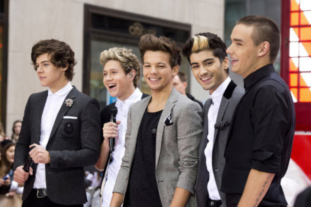One Direction members, from left, Harry Styles, Niall Horan, Louis Tomlinson, Zayn Malik and Liam Payne perform on NBC&#39;s &quot;Today&quot; show on Tuesday, Nov. 13, 2012 in New York. (Photo by Charles Sykes/Invision/AP)