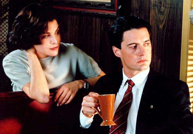 Twin Peaks Sherilyn Fenn (as Audrey Horne), Kyle MacLachlan (as Special Agent Dale Cooper)