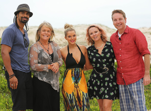 David Haye, Linda Robson, Helen Flanagan, Charlie Brook and Brian Conley of the Croc Creek team.