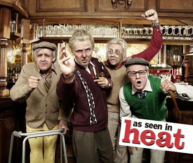 McFly pose for a photo shoot for Heat magazine