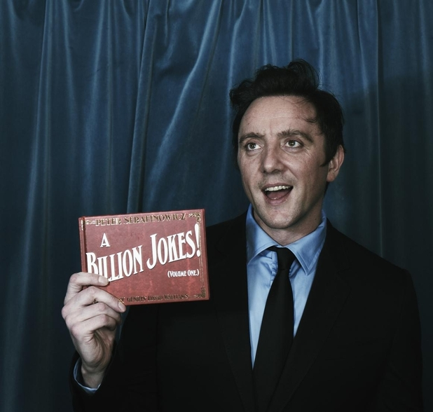 Peter Serafinowicz with his new book A Billion Jokes