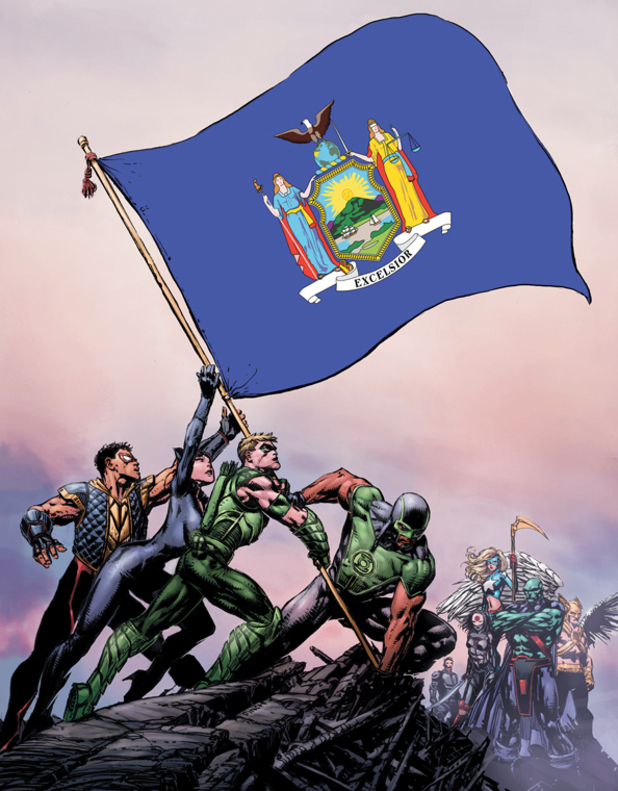 Justice League of America #1 New York variant