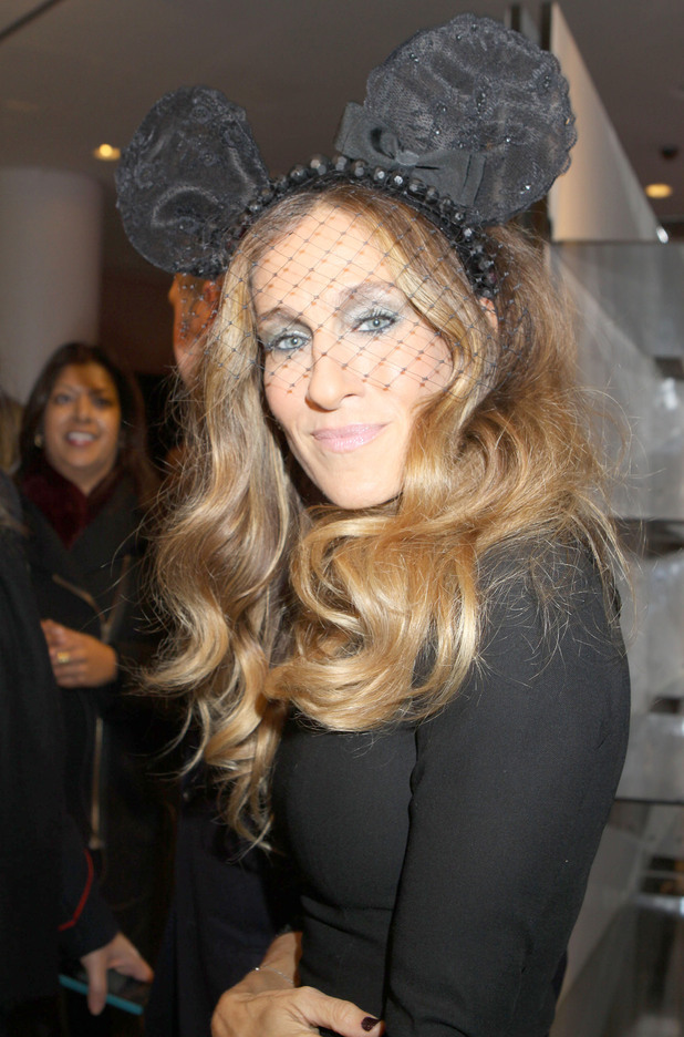 Sarah Jessica Parker at Barneys NY presenting Electric Holiday a moving art short created by Disney artists.New York City, USA