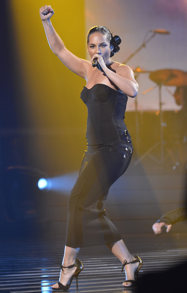 The X Factor: Alicia Keys performs