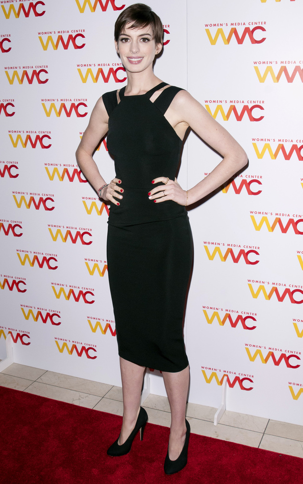Anne Hathaway The 2012 Women's Media Awards at Guastavino's 