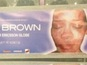 Brown poster vandalised with Rihanna face