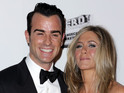 Jennifer Aniston & Justin Theroux make first red carpet appearance as a couple.