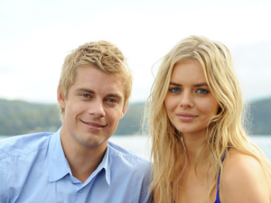 Luke Mitchell and Samara Weaving