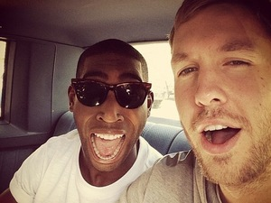 Calvin Harris, Tinie Tempah shoot 'Drinking From The Bottle' video.