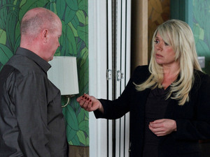 Sharon is still shocked after Phil broke off their fake engagement.