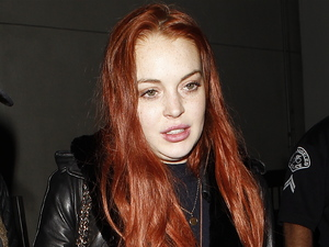 Lindsay Lohan at LAX