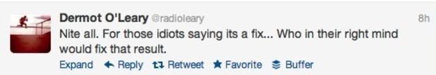 Dermot O''Leary tweet about Ella Henderson