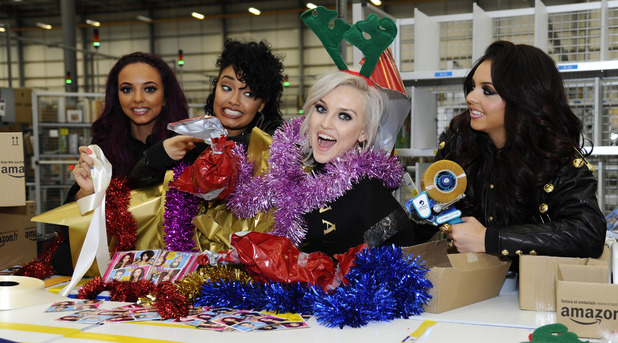 Little Mix launch their debut album at Amazon HQ.
