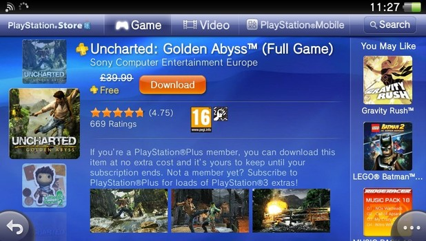 PS Vita PlayStation Plus now live
