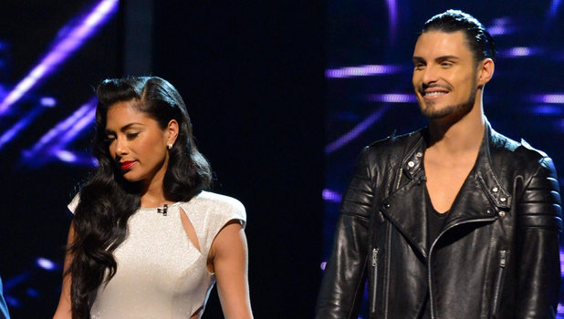 'The X Factor Live Results Show' TV Programme, London, Britain - 25 Nov 2012 Subhead: Judges, Nicole Scherzinger with Jahmene Douglas and Rylan Clark Supplementary info: Categories: Byline: Ken McKay/Thames/Rex FeaturesDate Created: 25 Nov 2012