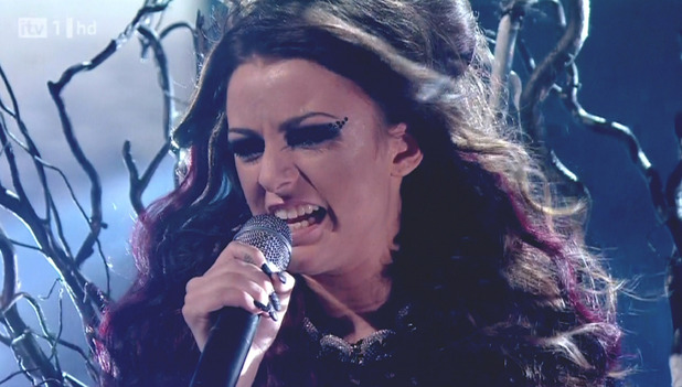 Cher Lloyd competes on 'The X Factor'. Shown on ITV1 England - 30.10.10 Supplied by WENN.
