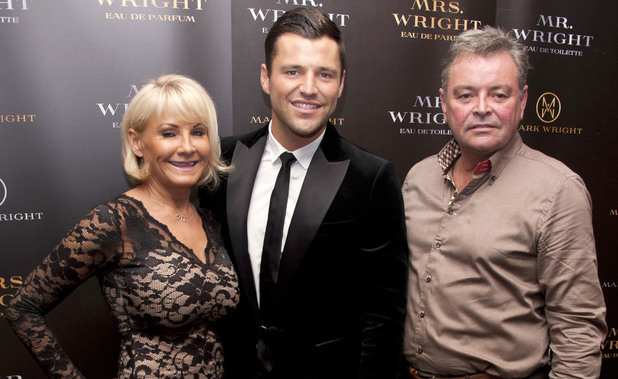 Mark Wright with Carol Wright and Mark Wright Sr. as he unveils his first fragrance collection featuring two scents, 'Mr Wright Pour Homme' and 'Mrs Wright Pour Femme' at the Soho Sanctum Hotel