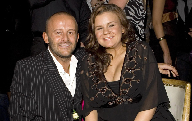 Kerry Katona with ex-husband Mark Croft (taken in February 2008)