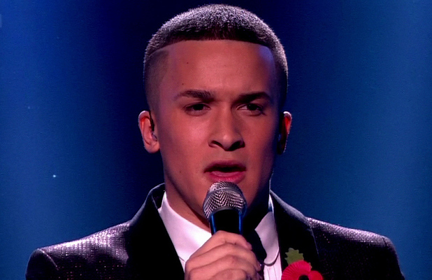 Jahmene Douglas performs on &#39;X Factor&#39; Shown on ITV1 HDEngland - 12.11.12