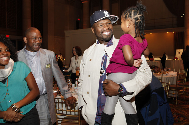 50 Cent greets those affected by Sandy