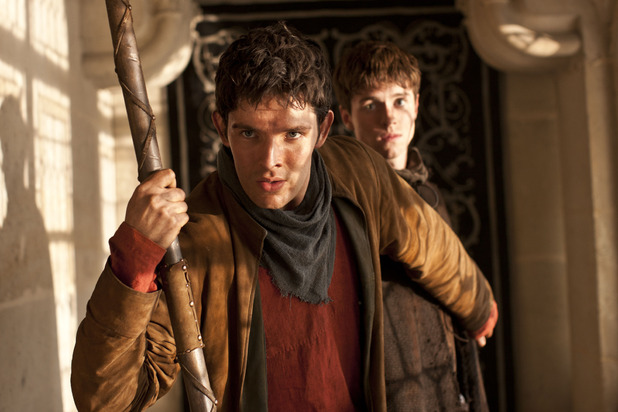 Merlin S05E08 - 'The Hollow Queen': Daegal (ALFIE STEWART), Merlin (COLIN MORGAN)