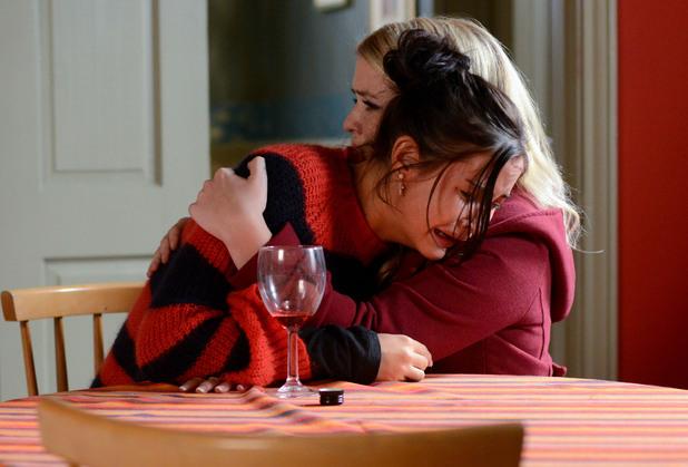 Abi comforts Lauren.