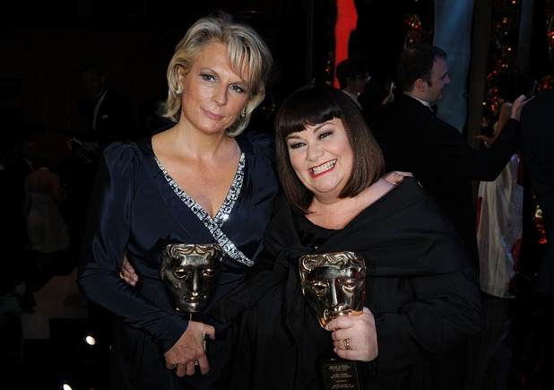 Jennifer Saunder and Dawn French