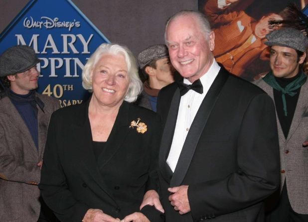 Larry Hagman with his wife