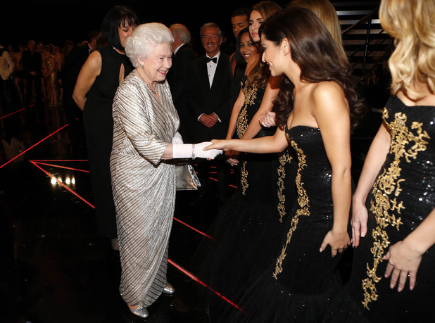 The Queen and Cheryl Cole